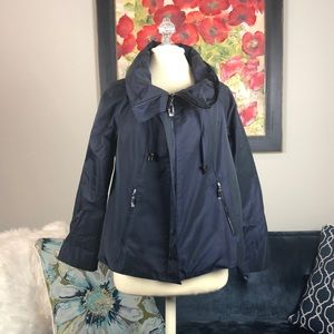 Navy water resistant jacket